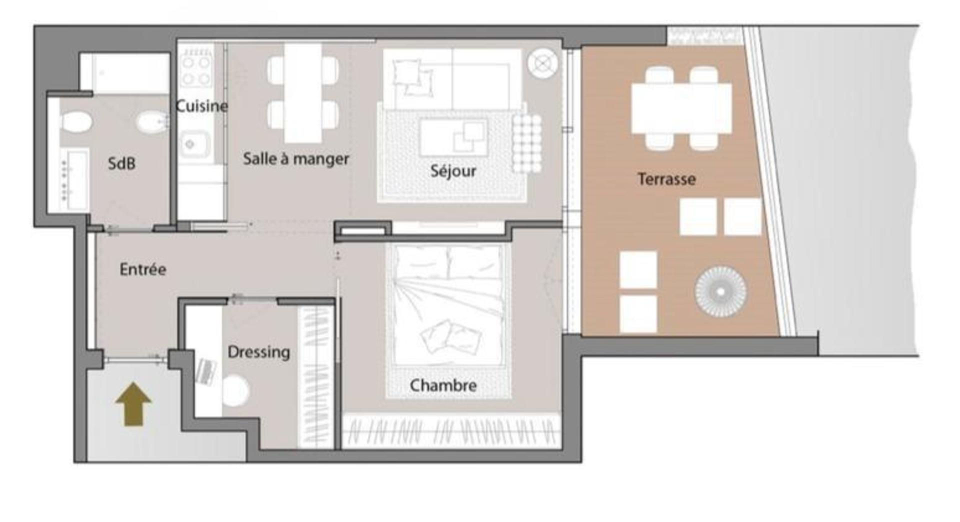 1 Bedroom Apartment Carree D Or Mirabeau Agence Marsan
